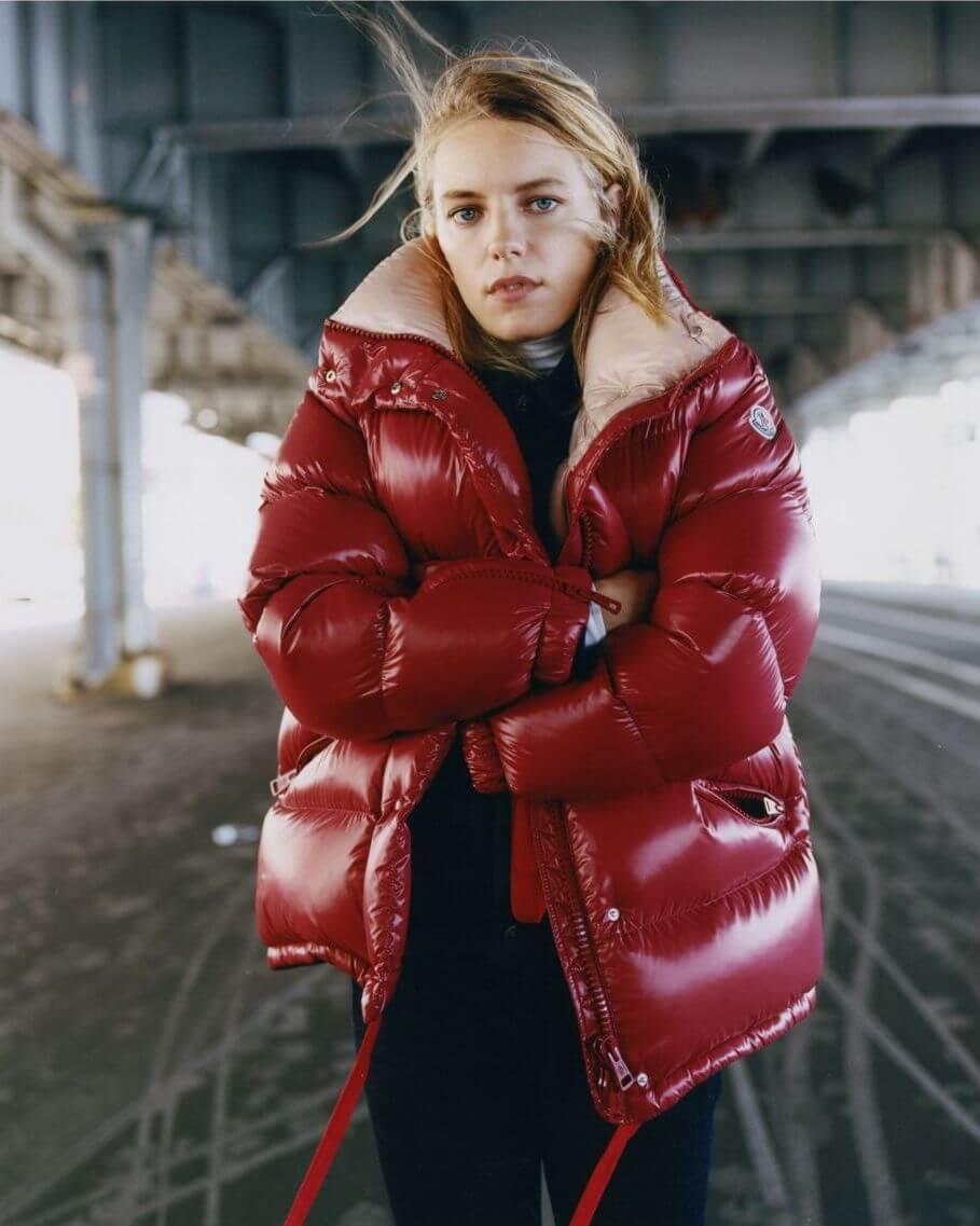 Callis Red Short Puffer Jacket
