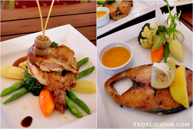 Chicken and Il Wahoo at Don Vito of Boracay Mandarin island Hotel