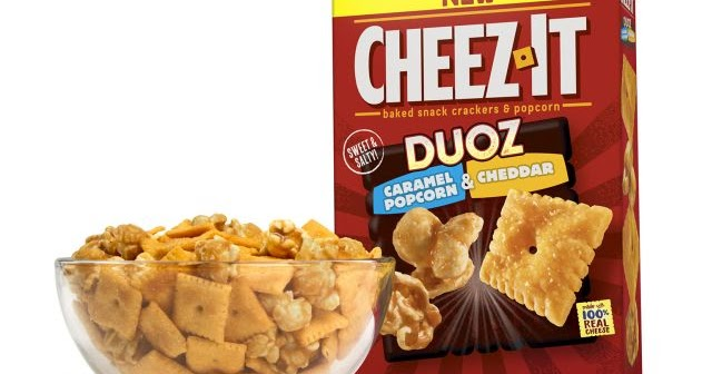 Cheez It Duoz Now In New Caramel Popcorn And Cheddar