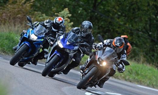 KTM RC390 vs Suzuki GSX 250 R vs Yamaha YZF-R3