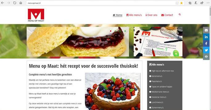 Website Menu op Maat