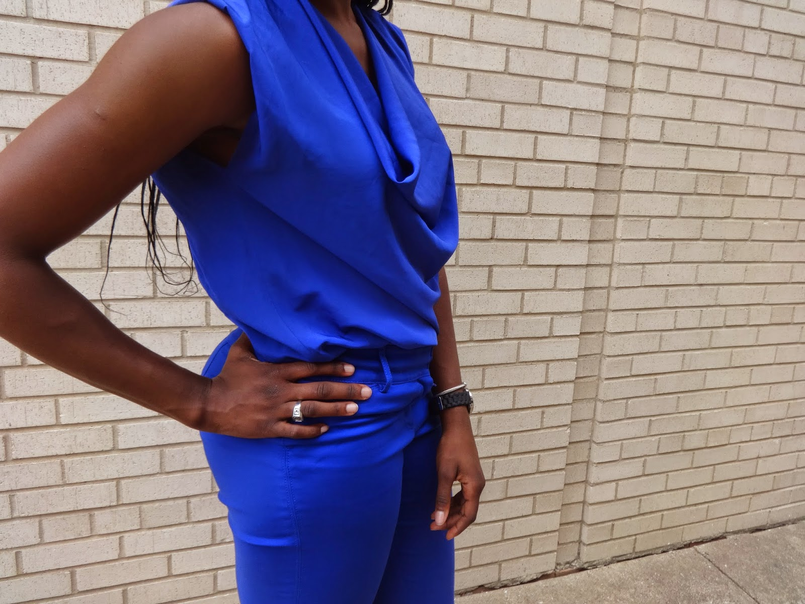 1d02422f27 Outfit Of The Day  Monochrome Blue - Dresses and Dumbbells