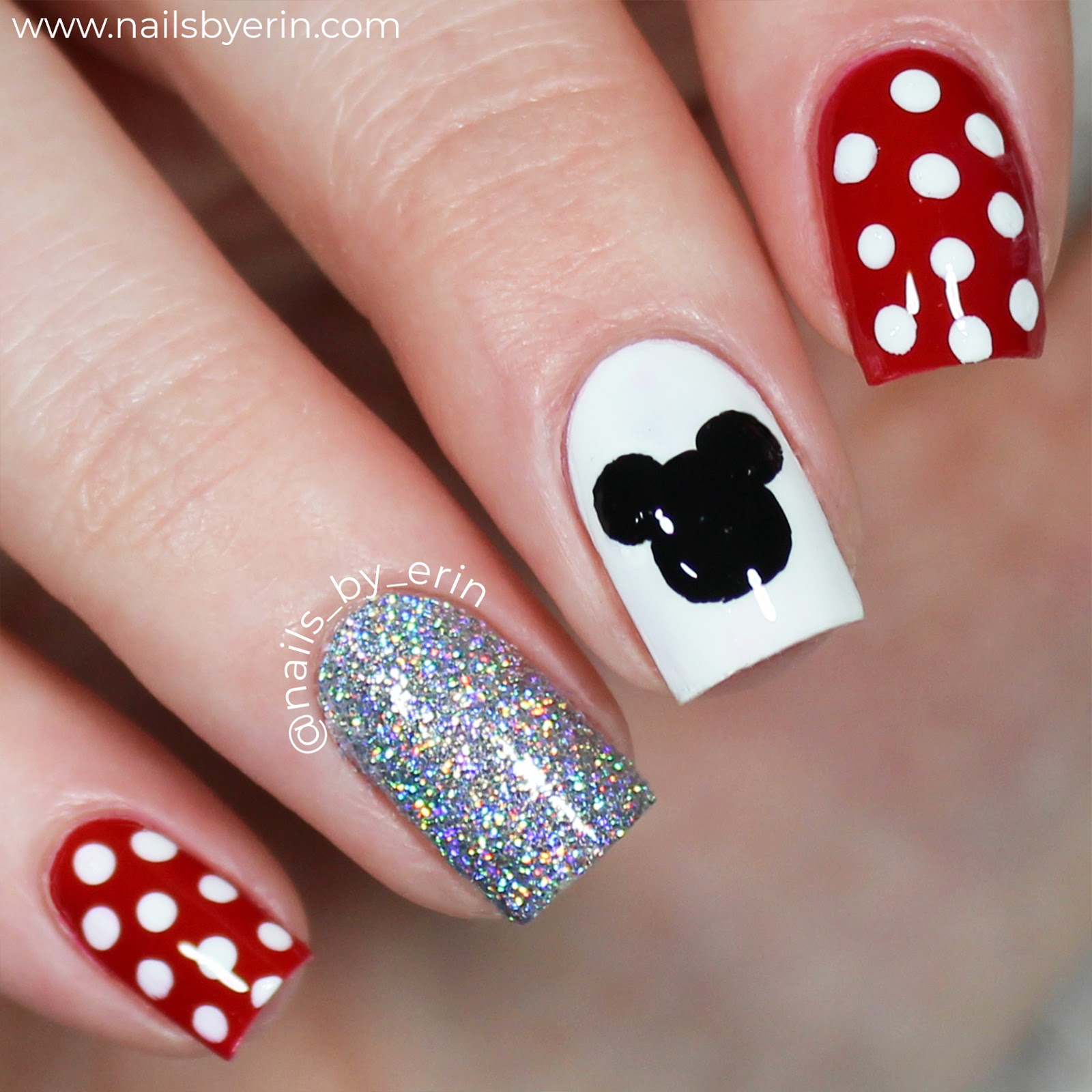 Nailsbyerin Minnie And Mickey Mouse Nails 2018 Edition