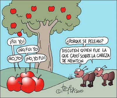 Resultado de imagen de la manzana de newton