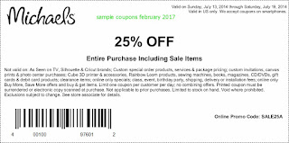 Michaels coupons february 2017