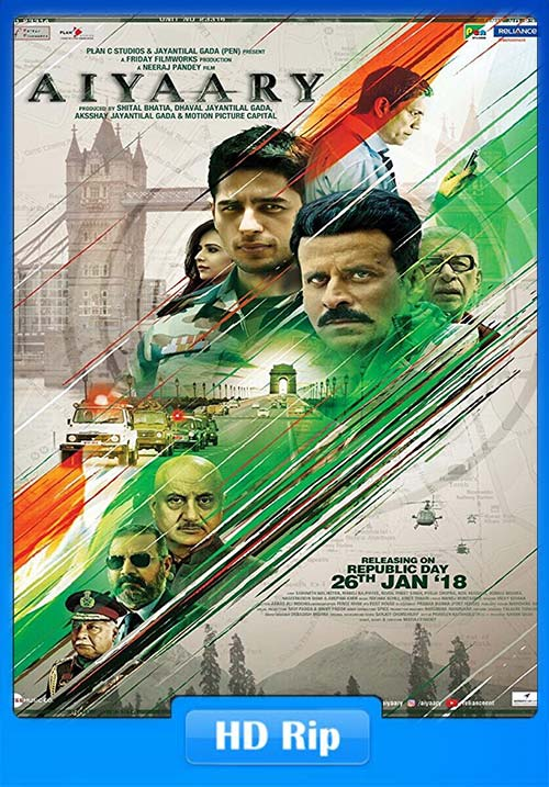 Aiyaary 2018 Hindi HDTVRip 720p | 480p 400MB | 200MB HEVC Free Download and Watch Online HD – SouthFreak.com
