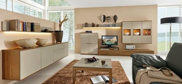 Diseño sala color beige