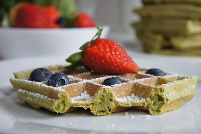 gluten-free matcha waffels recipe