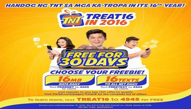 TNT Freenet and Freetext Promo – Free Internet and Text for 30 Days