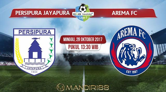 Prediksi Bola : Persipura Jayapura Vs Arema FC , Minggu 29 Oktober 2017 Pukul 13.30 WIB