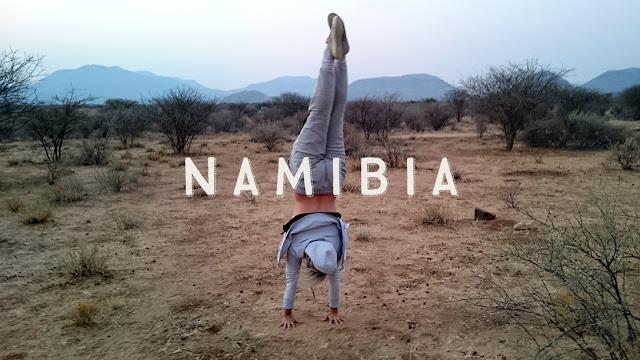 Erindi handstand Namibia