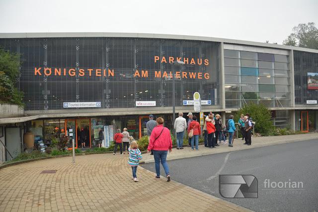 Twierdza Königstein - dojazd do twierdzy Königstein, parking znajduje się tuż pod twierdzą