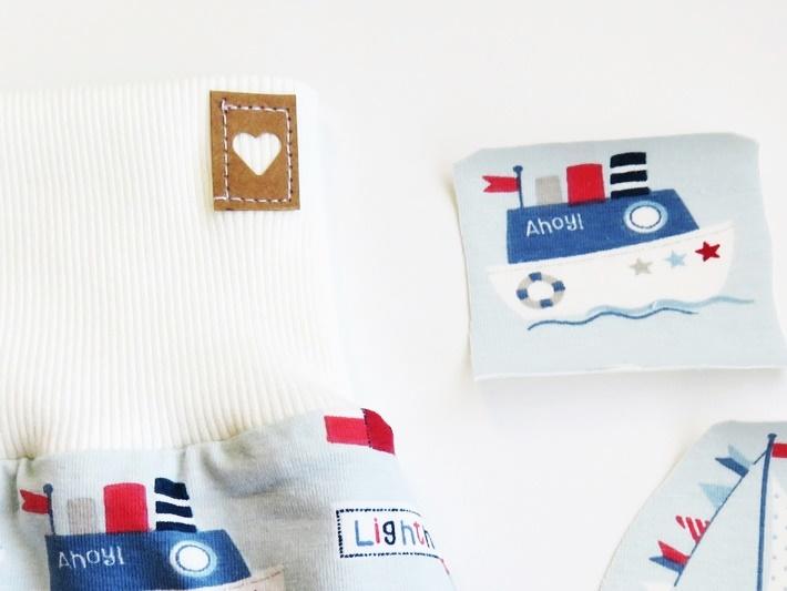 Snappap Etikett mit ausgestanztem Herz, DIY Label, vonKarin