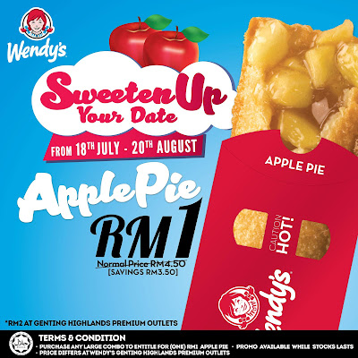 Wendy's Malaysia Apple Pie RM1 Discount Offer Promo