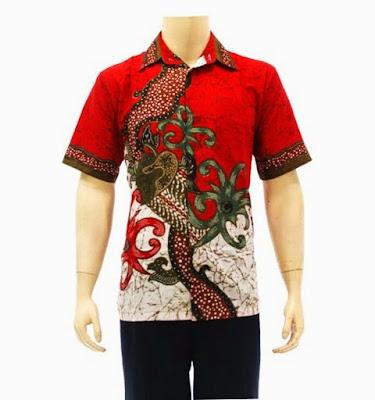 Foto Model Baju Batik Nasional Warna Merah Putih Modern Klasik