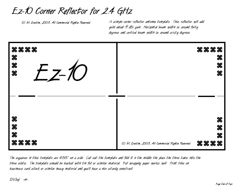 Donsdeals blog december 2011 for Ez 12 parabolic reflector template pdf