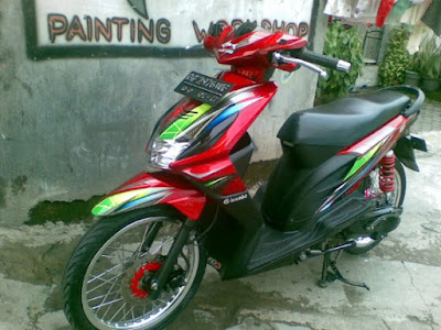Modifikasi Honda Beat Airbrush Minimalis