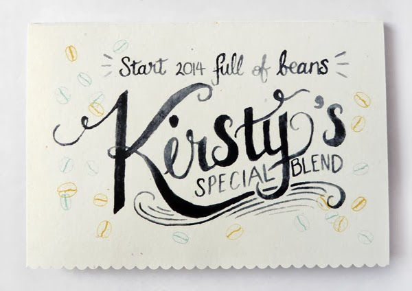 Personalised and Hand Lettered Client Gift Cards by Happiness is...