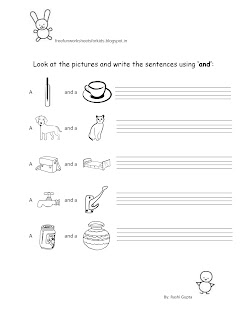 Free printable fun english worksheets for class kg sentence making using  and also kids rh freefunworksheetsforkidsspot