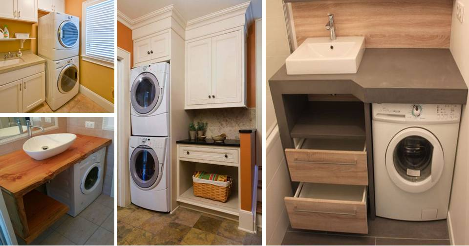 Affordable Small Bathrooms Ideas With Washing Machines ... on Small Space Small Bathroom Ideas With Washing Machine id=34074
