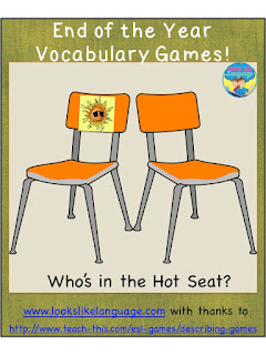 vocabulary, games, speech/language therapy, end of school year