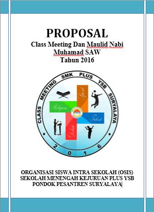 Contoh Proposal Class Meeting Yang 100 Pasti Di Acc Berbagi