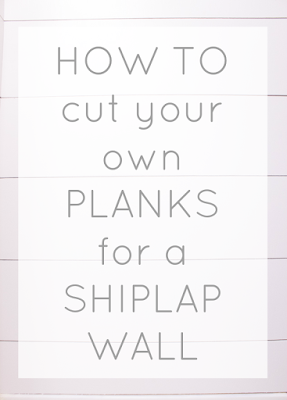 How to cut planks for shiplap