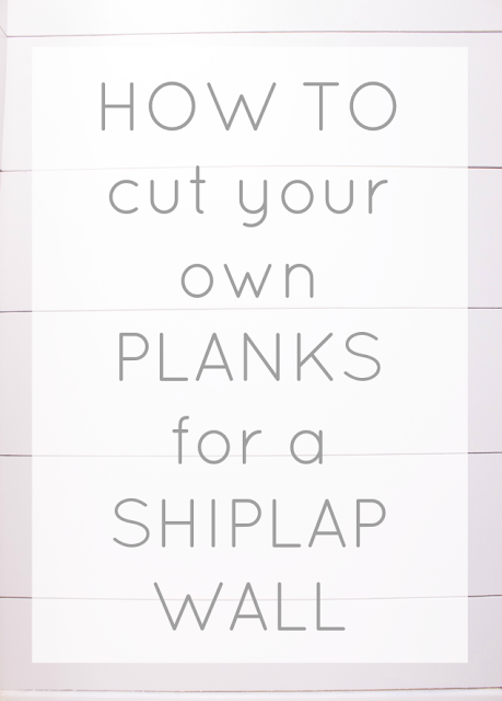 Learn how to rip plywood for shiplap at home