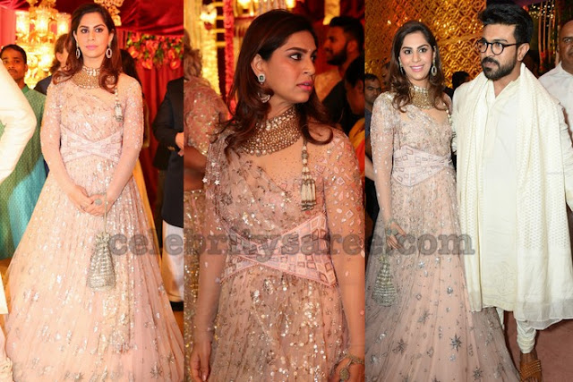 Upasana in Tarun Tahiliani at Anindith Reddy Wedding