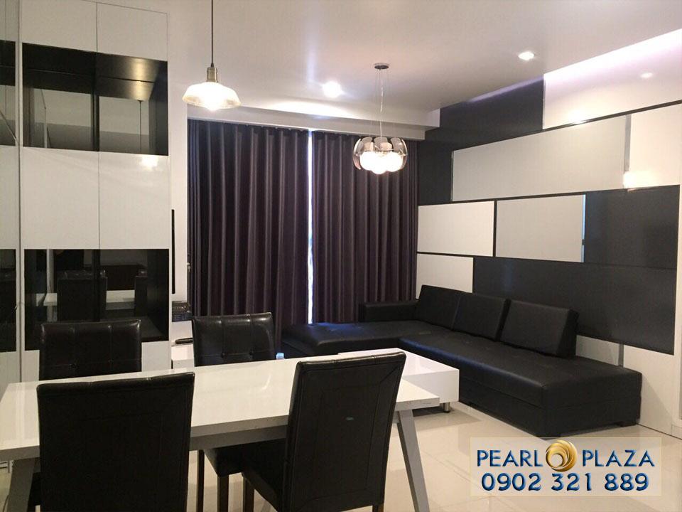 Pearl Plaza Văn Thánh - Phòng khách căn hộ 96m2