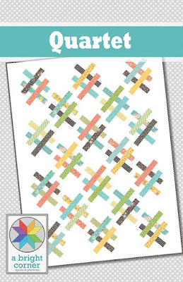 Quartet quilt pattern by A Bright Corner