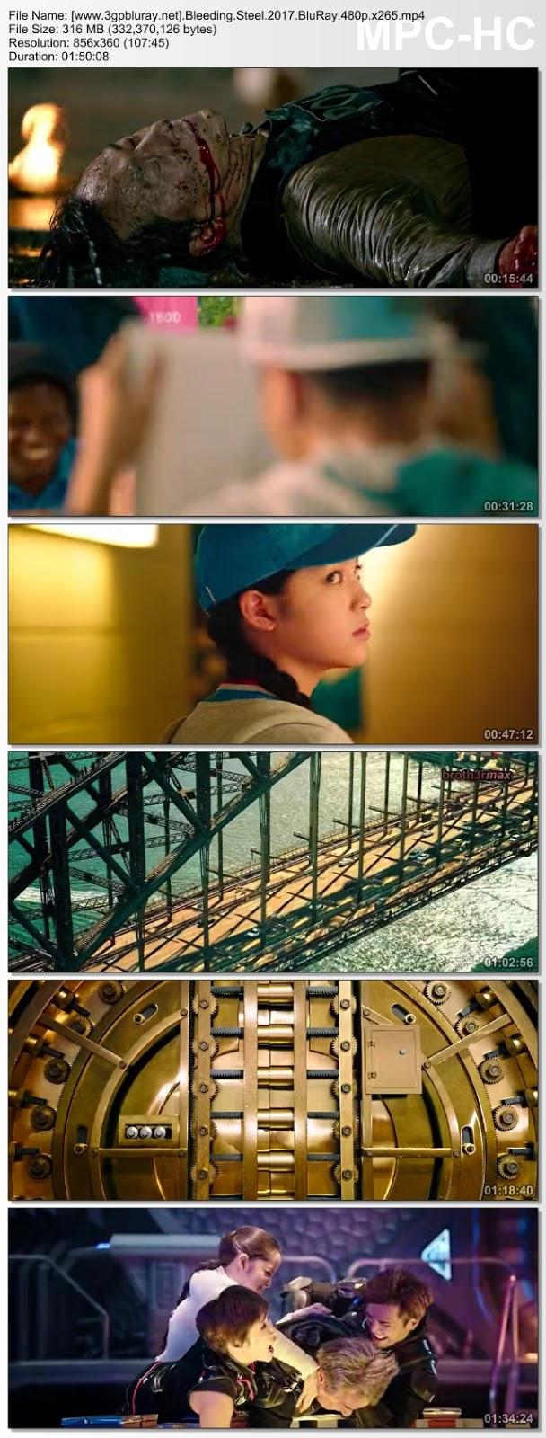 Screenshots Download Bleeding Steel (2017) BluRay 480p & 3GP Subtitle Indonesia