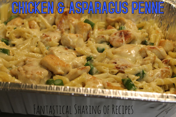 Chicken & Asparagus Penne | Five ingredients for this quick meal that will impress everyone you make it for #dinner #recipe