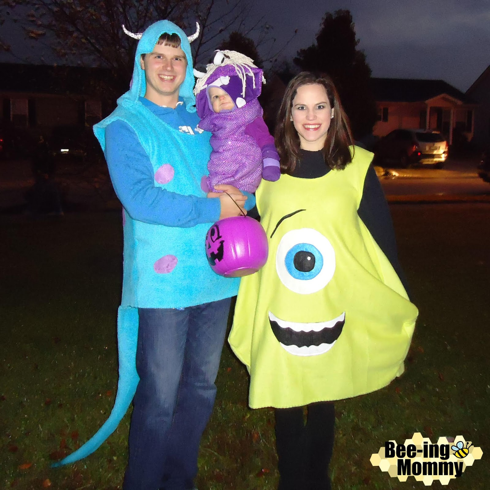 Monsteru0027s Inc family costume costume tutorial Monsteru0027s Inc costume tutorial Mike Sully  sc 1 st  Bee-ing Mommy & Bee-ing Mommy Blog: Monsteru0027s Inc. Family Costume: Mike Sully u0026 Boo