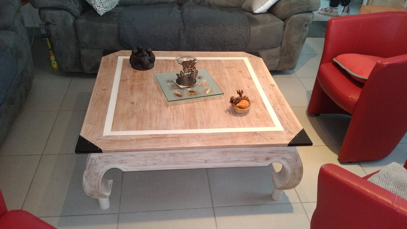 O 39 bois recycl restauration d 39 une table basse opium - Restauration d une table en bois ...