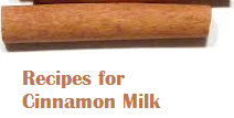 Recipes for Cinnamon Milk
