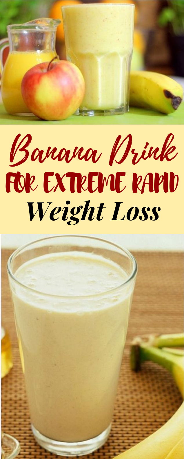 Banana Drink for Extreme Rapid Weight Loss #healthydrink #weightloss