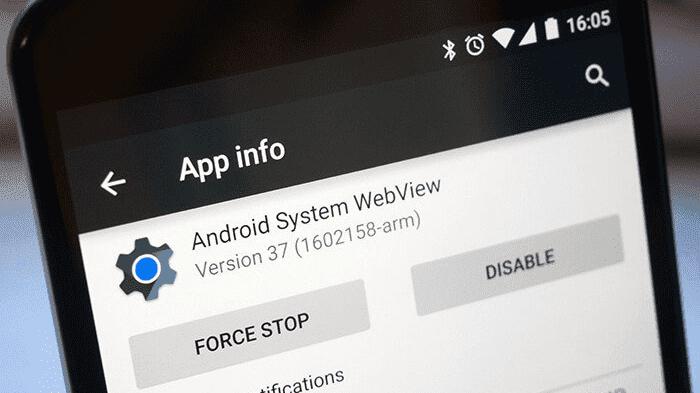 fungsi android system webview adalah sebagai in-app browser untuk menampilkan konten web atau blog