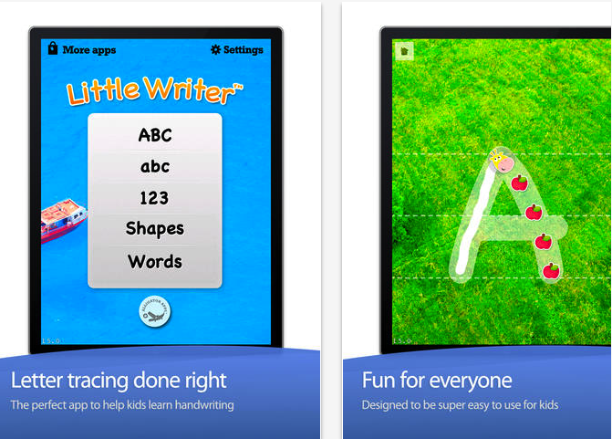 little writer is a tracing app thats done just right little writer is super fun and so easy to use that your kids will think letter tracing is a game vs