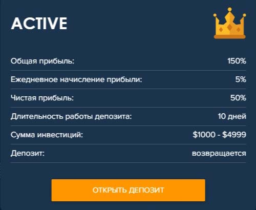 Инвестиционные планы Crypto-Club 3