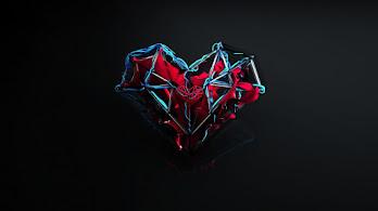 Heart, Abstract, Digital Art, 4K, #4.285
