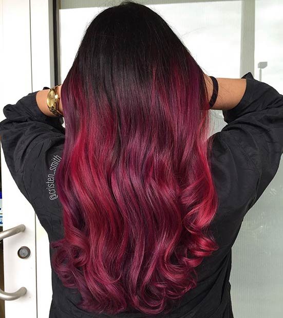 24 Celebrity Ombre Hair Color Ideas In Red 2018 You Will Love Fashionuki