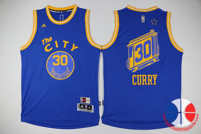 dcb8cacd5fe09 maillot basket nba the City Golden State Warriors 2016 Stephen curry #30  jaune
