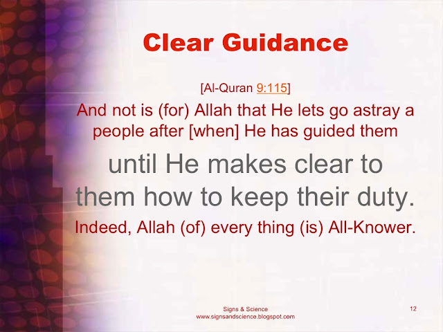 Allah does not let a people go astray after He has guided them until He makes clear to them how to keep their duty