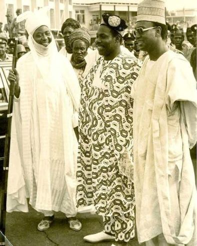 Photo of Olusegun and then Governor of Kano State, Sani Bello in the 1970s