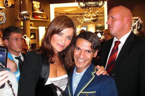 Helena Christensen, Super Model and Michael Dierks at Tommy Hilfiger