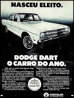 Propaganda Dodge Dart - 1970, carros Chrysler anos 70, década de 70, Oswaldo Hernandez,