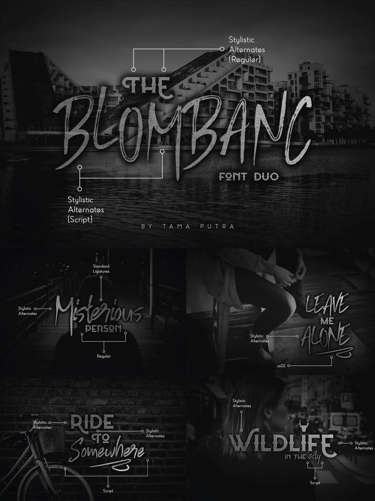 font, typeface, blombanc, display, handwritten, script, font duo