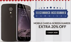 Mobile Accessories Carnival: Upto 90% Off+ Extra 20% Off on Mobile Cases & Screen Guards @ Flipkart