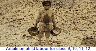 Article on child labour for class 9, 10, 11, 12